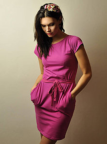 Šaty - Vreckové šaty Fuchsia - 9163747_