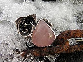 Prstene - Strieborný prsteň Ag925 Ruženín - Ružička - 9163475_
