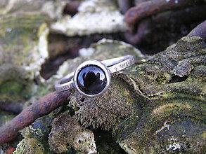 Prstene - Strieborny prsteň Ag 925 Ónyx - 9164858_