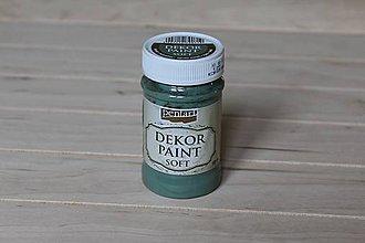 Farby-laky - Decor Paint Soft 100ml - khaki zelená - 9165256_