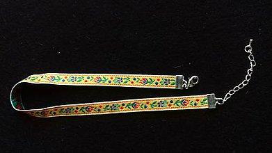 Iné šperky - obojkový náhrdelník - folk choker šírka 1 cm (pestrofarebná stuha) - 9166227_