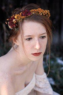 Ozdoby do vlasov - Jesenný polvenček