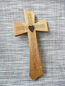 Dekorácie - Kríž masívny dubový (Hnedá) - 9164431_