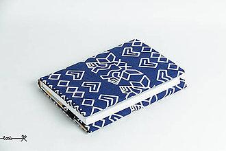 Papiernictvo - Obal na knihu otvárací - Čičmany modré II. - 9167988_