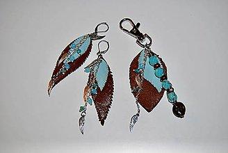 Sady šperkov - Kožený setík - 9165510_