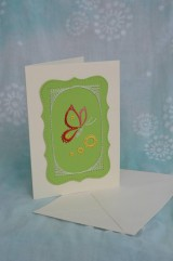 Papiernictvo - Pohľadnica - motýľ - 9167484_