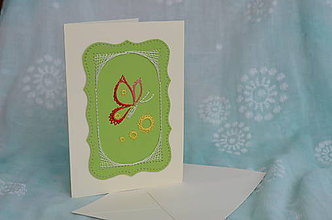 Papiernictvo - Pohľadnica - motýľ - 9167467_