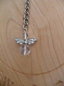 Iné šperky - prívesok na kľúče anjel z Krištáľu - 9164842_
