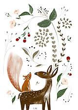 Grafika - Potulky v lese ilustrácia  / reprodukcia maľba - 9168513_