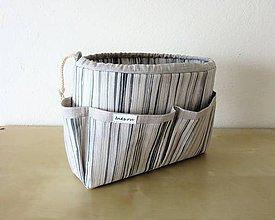 Taštičky - Organizer do kabelky pásikavý - 9169833_