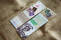 Papiernictvo - Záložky do knihy / recyklované - 9171900_