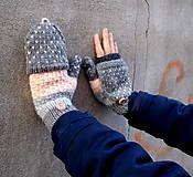 Rukavice - Palčiaky otváracie rukavice - 9171868_