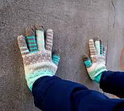 Rukavice - Samé pásiky rukavice s bodkami - 9171929_