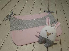 Textil - Veľký plienkovník - ružovo-sivý - 9170478_