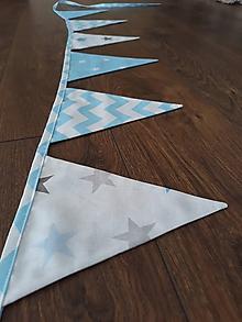 Detské doplnky - Vlajky ... modrá obloha - 9169149_