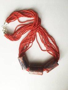 Náhrdelníky - náhrdelník červený - 9169122_