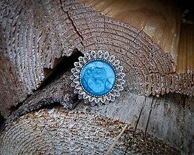 Odznaky/Brošne - Okrúhle brošničky (Modrá) - 9168554_