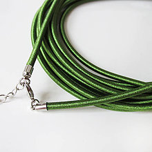 Komponenty - Hodvábny náhrdelník 3mm (Grass) - 9170713_