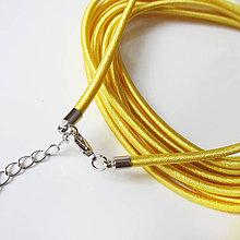 Komponenty - Hodvábny náhrdelník 3mm (Sun Gold) - 9170717_