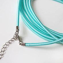 Komponenty - Hodvábny náhrdelník 3mm (Mentol) - 9170720_