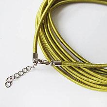 Komponenty - Hodvábny náhrdelník 3mm (Light Olive) - 9170721_