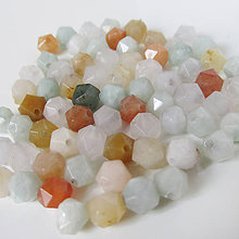 Minerály - Jadeit fazetovaný korálka (Mix farieb 6-7mm) - 9171149_