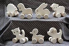 Drevené hračky. Zvieratká akurát do malej rúčky - 7 druhov