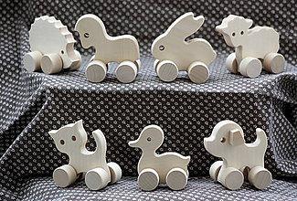 Hračky - Drevené hračky. Zvieratká akurát do malej rúčky - 7 druhov - 9168733_
