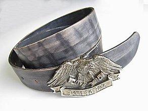 Opasky - Kožený opasok Born to Ride čierny - 9172737_
