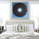 Obrazy - Mandala KVET ŠŤASTIA biely 100 x 100 (80 x 80 cm) - 9170014_