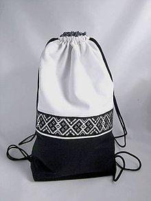 Batohy - Ruksak čierno-biely - 9172924_
