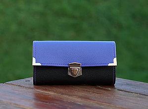 Peňaženky - Peněženka, 18 karet, 2 kapsy na drobné (Fialová) - 9168913_