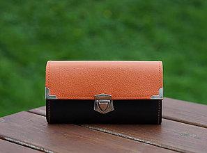 Peňaženky - Peněženka, 18 karet, 2 kapsy na drobné (Oranžová) - 9168918_
