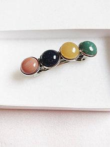 Iné šperky - Spona z minerálov - 9168629_