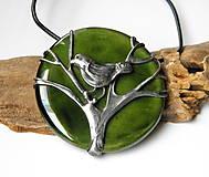 """Náhrdelníky - Cínový šperk s keramikou """"Čakanie na jar"""" - 9170392_"""