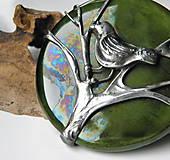 """Náhrdelníky - Cínový šperk s keramikou """"Čakanie na jar"""" - 9170393_"""