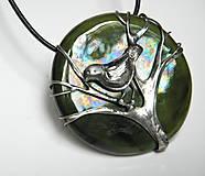 """Náhrdelníky - Cínový šperk s keramikou """"Čakanie na jar"""" - 9170434_"""