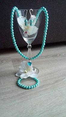 Sady šperkov - Náramok, náhrdelník a naušnice - 9171162_