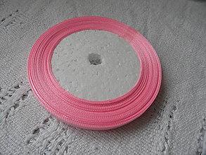 Galantéria - Stuha saténová - ružová 6mm - 9171285_
