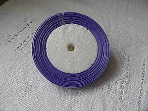 Galantéria - Stuha saténová - fialová 10mm - 9171457_