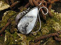 Strieborný prívesok Ag925 Dendritický opál
