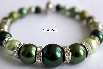 Náramky - Shades of Green - 9171409_
