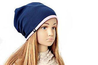 Detské čiapky - Elastic čiapka kombi s iniciálkou-OBOJSTRANNÁ - 9169193_