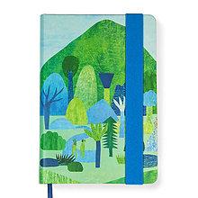 Papiernictvo - Zápisník A5 Výletník (Zápisník A5 Výletník (modrá gumička)) - 9168382_