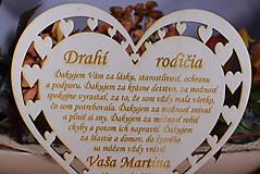 Darčeky pre svadobčanov - Poďakovanie Rodičom srdce vyrezávané 11 - 9169206_