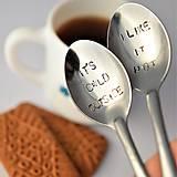 Pomôcky - Dvojica kávových lyžičiek - 9170543_