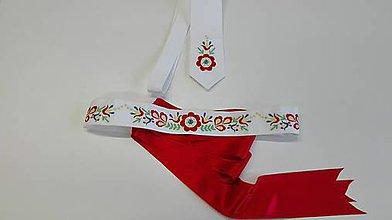 Opasky - Opasok a kravata - svadobný set - 9168517_