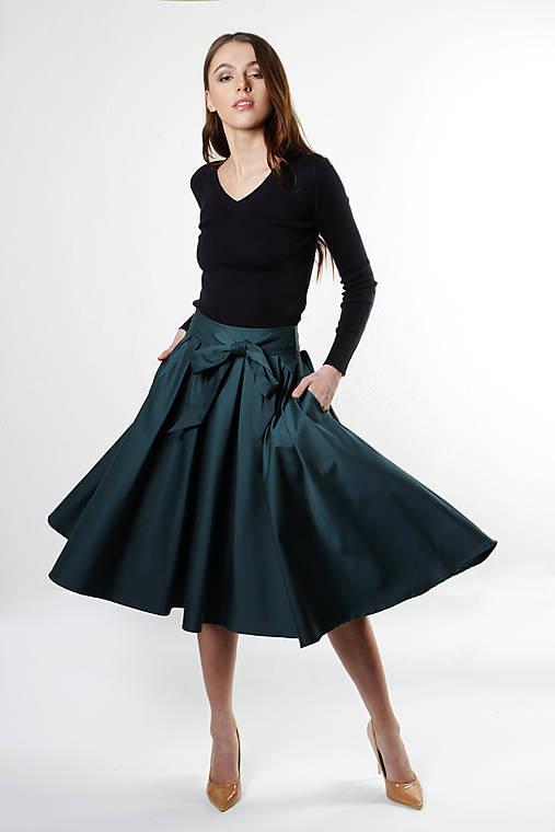 Kruhová sukňa s vreckami   ceccilia - SAShE.sk - Handmade Sukne a74443427b9