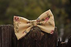 Doplnky - Motýlik ružové ruže - 9177372_