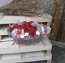 Dekorácie - červené ruže ❤️ v košíku - 9175893_